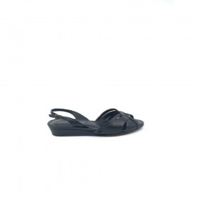Bomar Black Leather Donald Pliner Sandals
