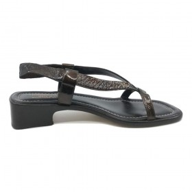 Arua Bronze Patent Leather Donald Pliner Sandal
