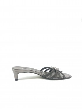 Hunt Taupe Pewter Leather Donald Pliner Sandal