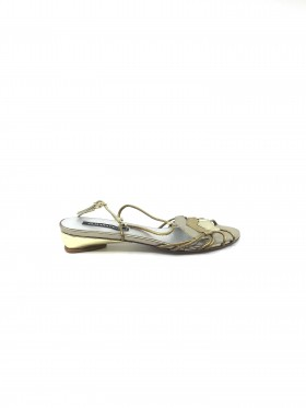 Ginepro Platinum Leather Claudia Ciuti Sandal