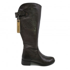 SienaEmblem 2065 Chocolate Brown Leather Bussola Boots