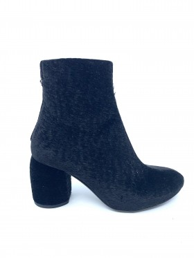 4945 Black Astracan Fabric Ethem Ankle Boot