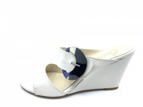 Penelope Nappa Milk Butter Wedge Slide Sandal