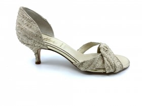 Percy Gold Fabric Butter d'Orsay Pump