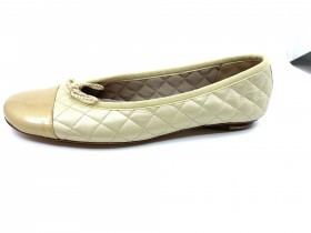 Cozy Platino Gold Nappa Leather Paul Mayer Ballet Flat