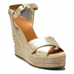 635870 Gold Metallic Espadrille Marc by Marc Jacobs Wedge Sandal