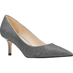 Arlene Black Pewter Glitter Fabric Nine West Pumps
