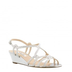 Fynlee Silver Dreamland Nina Wedge Sandals