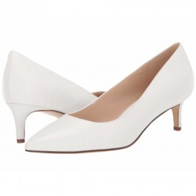 Fina White Leather Nine West Pumps
