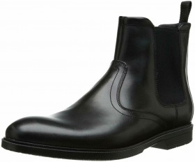 A12172 CS Chelsea Black Leather Rockport Ankle Boots