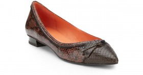 Via Spiga Dottie Chestnut Leather Ballet Flats